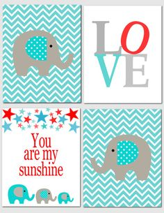 You are my sunshine -  Nursery Art Baby Nursery Boy Girl Kids Wall Art Red by vtdesigns