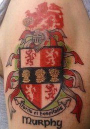 Murphy coat of arms family motto strength and for Family motto tattoos