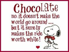 snoopy chocolade at DuckDuckGo Chocolate Humor, Chocolate Quotes, Chocolate Pictures, Death By Chocolate, I Love Chocolate, Chocolate Coffee, Chocolate Lovers, Chocolate Chocolate, Snoopy Love