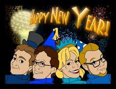 2015 New Years Cards Facebook.com/CARTOONIFYOURSELF