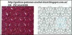 PATRONES=GANCHILLO = CROCHET = GRAFICOS =TRICOT = DOS AGUJAS: PUNTO ZIC ZAC