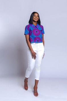 African print top African clothing Ankara top Ankara