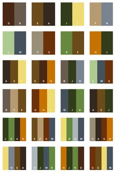 Earth tone colour combinations