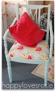 Cath Kidston Fabric HAPPY LOVES ROSIE, via Flickr