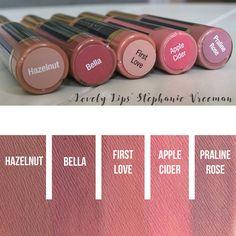 ((IN STOCK at Lovely Lips: Stephanie Vreeman))Hazelnut LipSense, Bella LipSense, First Love LipSense, Apple Cider LipSense, Praline Rose LipSense IN STOCK (Lovely Lips: Stephanie Vreeman)