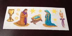 CREATIVE MEMORIES STICKERS: CHRISTMAS BABY JESUS JOSEPH MARY NATIVITY MANGER #MrsGrossman