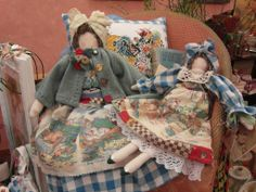 Nostalgia at the Stone House: Vintage & Handmade ---- So sweet...and the skirts are made from a cloth book!