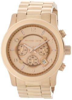 Michael Kors Men's MK8096 Runway Rose-Tone Watch #Michael #Kors #Mens #MK8096 #Runway #Rose-Tone #Watch