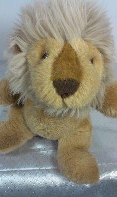 """1988 Vintage Gund Brown Lion Stuffed Animal Plush Lovey Soft Toy Kitty Cat 10""""  #GUND"""