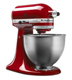 KitchenAid® Ultra Power® Series 4.5-Quart Tilt-Head Stand Mixer- My favorite :) I love the red blue and even the green