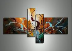 Textured Canvas Art Painting 479 - 64 x 34in
