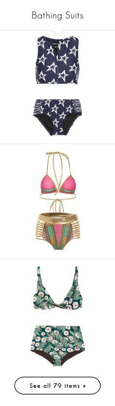 """Bathing Suits"" by mysfytdesigns ❤ liked on Polyvore featuring swimwear, bikinis, navy, summer bikini, swimming bikini, sporty bikinis, ruched bikini, navy blue bikinis, swim and halter swim top"