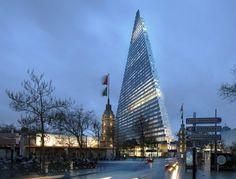 """© Herzog & de Meuron  Paris Approves Plans to Build Herzog & de Meuron's """"Triangle Tower"""""""