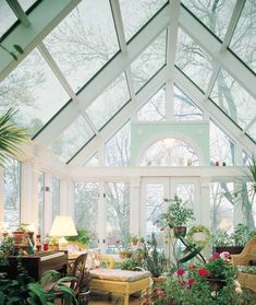 sunroom | Sunroom?  More like gigantic greenhouse that I would have furniture in and never freakin' leave!  @marauder13
