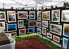 art show booth | Brady Kesner Photography Art Show Booth