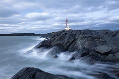 Cape Forchu Lighthouse | It was an extremely windy day Fallout, Take My Time, Atlantic Canada, Concrete Structure, Windy Day, Nova Scotia, Lighthouse, Cape, Ocean