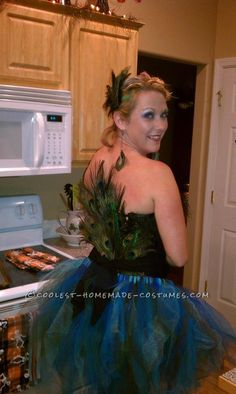 Fun Homemade Peacock Tutu Halloween Costume... This website is the Pinterest of costumes