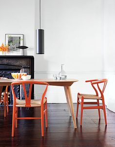 wishbone chair by Hans Wegner produced by Design Within Reach