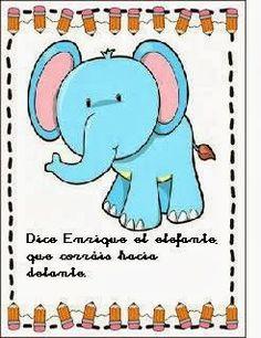 El pupitre: Tarjetas de psicomotricidad. Enrique el elefante Gross Motor Activities, Language Activities, Blended Learning, Spanish Language, Gymboree, Smurfs, Children, Kids, Kindergarten