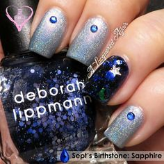 Sapphire-Inspired Manicure #manicure #nails #bluenails #redcarpet -bellashoot.com