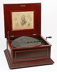 "19th c. Regina 15.5"" disc music box"