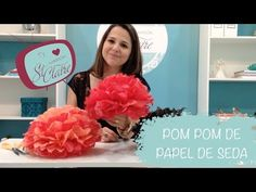 ♡ DIY: Flores / Pompom de Papel de Seda! - YouTube