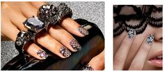 Real lace on your nails?  Yes, thank you!