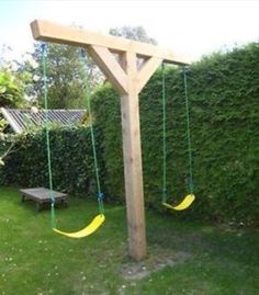 Great space saver swing set to add on to the tree house!!