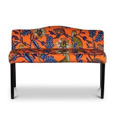 Zambezi velvet Monkey Bean Flame bench by Ardmore