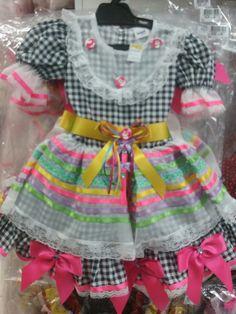 Vestido Festa Junina Tam 2 ao 12 R$148,00