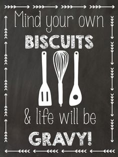 Chalkboard mind your own biscuits Poster by PerfectingPrintables