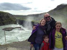 Stéphanie et sa petite famille en Islande