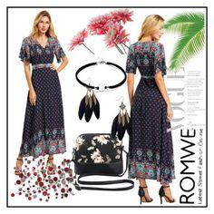 """ROMWE DRESS"" by lejla150 ❤ liked on Polyvore"