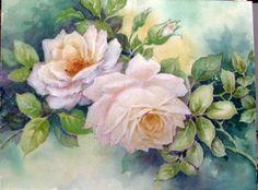 Blue Mask Roses Celeste McCall artist