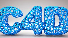 CInema 4D Tutorial - Poly Text Effect