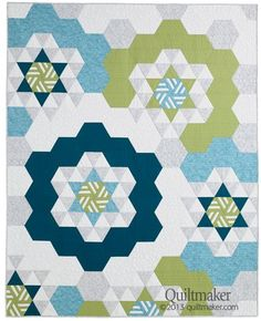 Easy Breezy Hexies by Sonja Callaghan in the May/June '13 issue of Quiltmaker! http://www.quiltmaker.com/issues/Quiltmaker_May_June_13