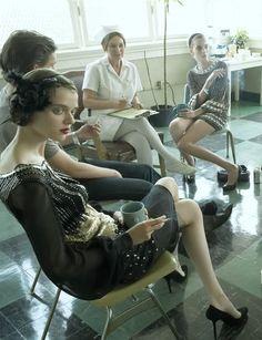 """""""Supermodels enter rehab"""" by Steven Meisel for Vogue Italia"""