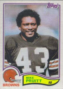 Mike Pruitt 1982 Topps #70 football card Cleveland Browns History, Cleveland Browns Football, Cleveland Ohio, Go Browns, Browns Fans, Nfl Football Players, Football Memes, Football Trading Cards, Football Cards