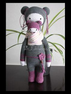 BINA the bear / KIRA the kangaroo mod by Tite Edelweiss / based on a crochet pattern by lalylala