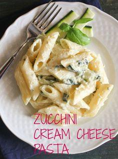 A deliciously easy, creamy and light dish. Zucchini cream cheese pasta / anitalianinmykitchen.com