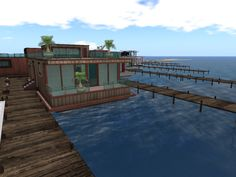Linden Homes, Second Life, Architecture Art, Deck, Boat, Places, Outdoor Decor, House, Travel