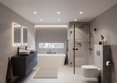Master Bathroom Shower, Cozy Bathroom, Bathroom Goals, Bathroom Layout, Modern Bathroom Design, Oak Bathroom Furniture, Bathroom Interior, Sombre, Wet Rooms
