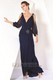 A-Line Princess V-neck Chiffon Mother Of The Bride Dress
