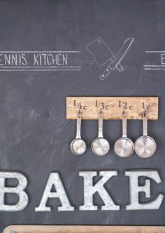 Make your own measuring cup rack   DIY