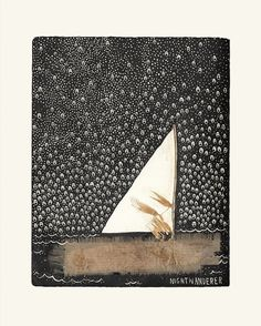 Nightwanderer, a drawing created on a lovely sea
