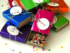 New Year's Eve countdown and confetti party favor boxes found at Homework