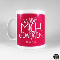 """Becher & Tassen - Spruchtasse """"Zwerg."""" - ein Designerstück von FUNI-SMART-ART bei DaWanda"""