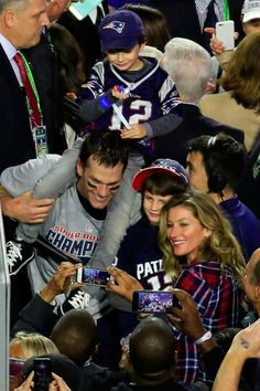 Super Bowl WIN!! 2/1/2015 Brady & Family