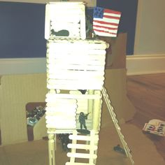 popsicle stick army fort