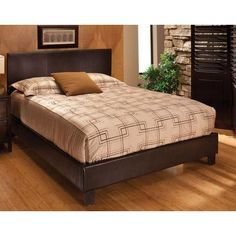 Hillsdale Harbortown Upholstered Platform Bed Size: Queen, Finish: Brown Vinyl
